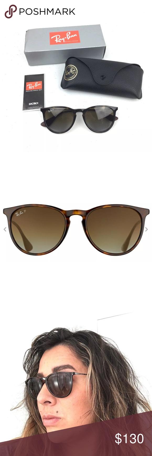 1ef99b5751f Ray Ban Polarized Erika Sunglasses Authentic Ray Ban RB 4171 Erika 710/T5  Shiny Havana