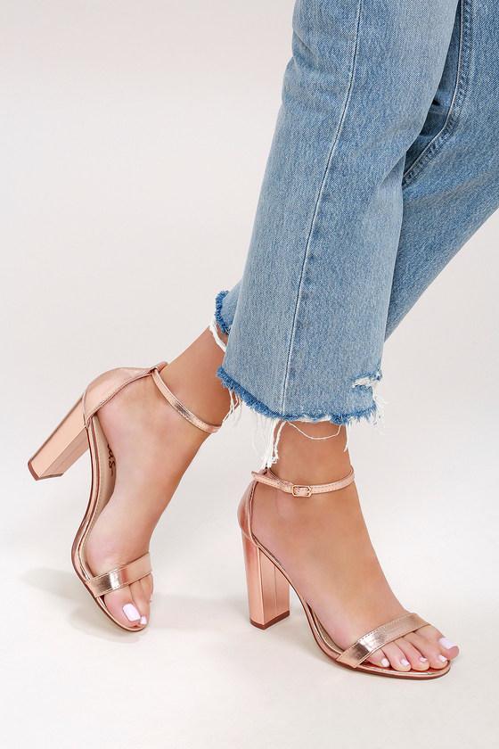 82783263080 Taylor Rose Gold Ankle Strap Heels in 2019 | Veils, Shoes ...