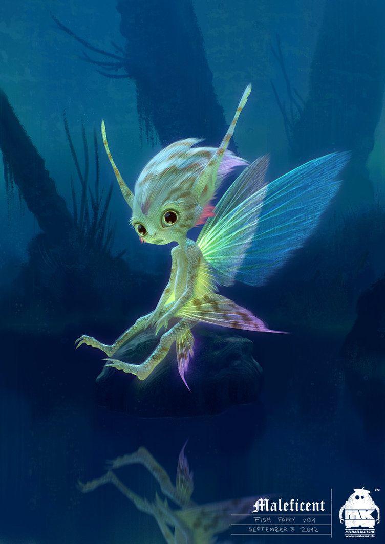 Maleficent Fish Fairy Character Design By Michaelkutsche On
