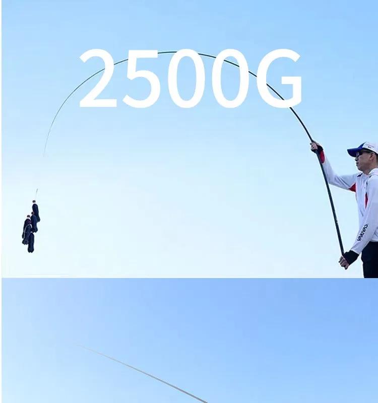 Telescopic Fishing Rod 2.7m-10m High Quality Carbon Fiber Rod Power Hand Pole