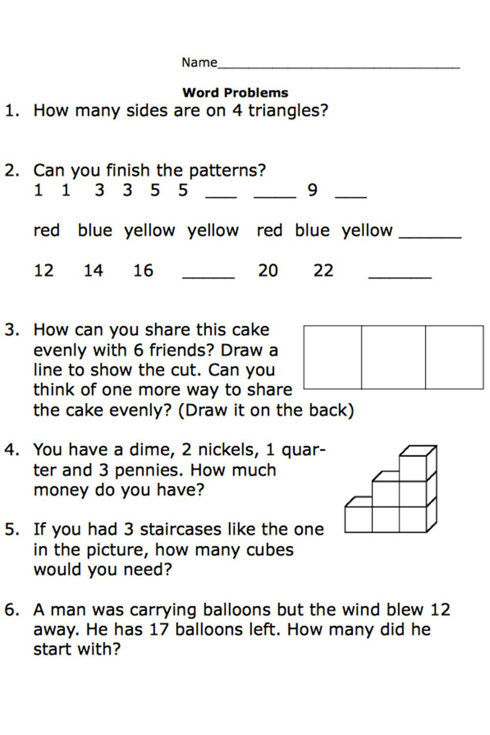 Free Printable Worksheets for Second-Grade Math Word Problems   Addition  words [ 1500 x 1000 Pixel ]