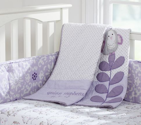 Pottery Barn Kids Pink Gray Cotton Dahlia Baby Crib Toddler Fitted Sheet New