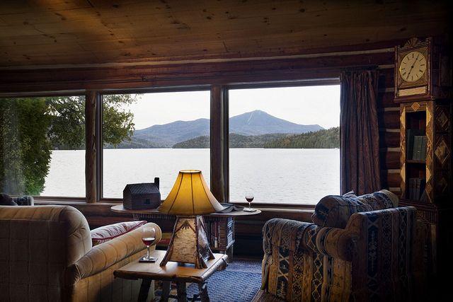 #LoveLakePlacidLodge The View From Colden Lakefront Cabin
