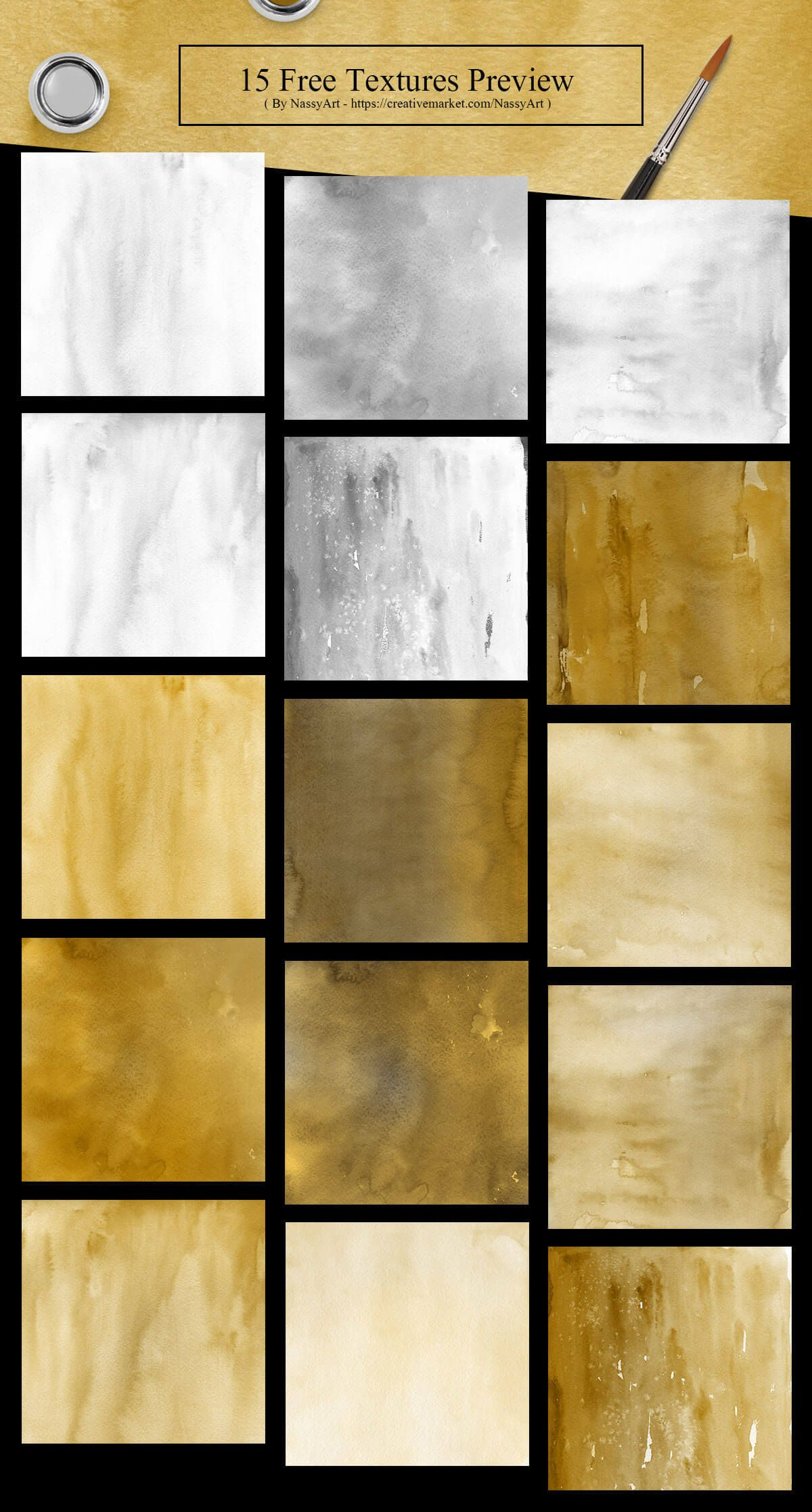 15 Free Gold And Silver Watercolor Textures Watercolor Texture