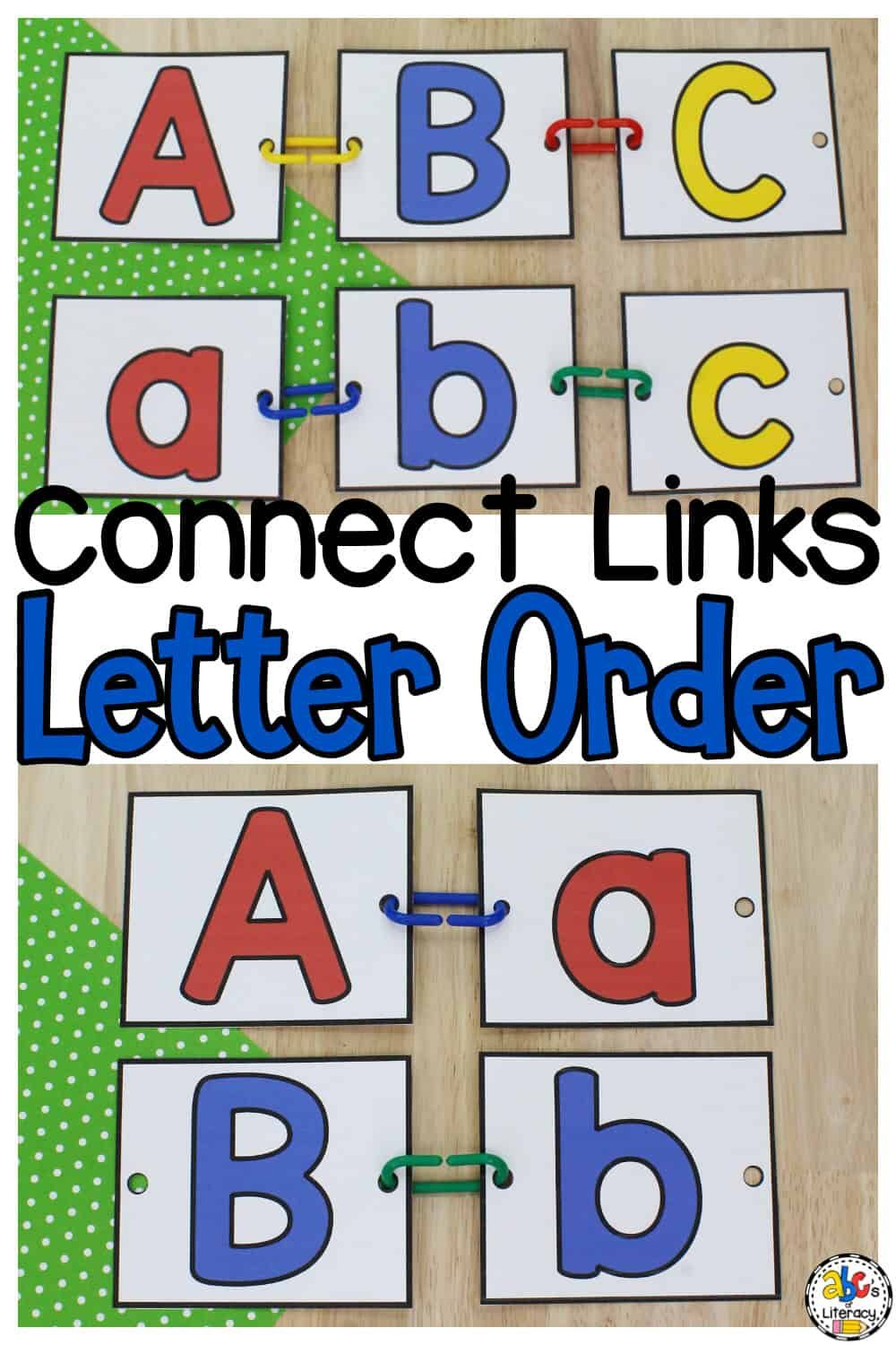 Connect Links Letter Order Activity For Preschool Kindergarten Letter Activities Preschool Letter Recognition Activities Letter Recognition Preschool [ 1500 x 1000 Pixel ]