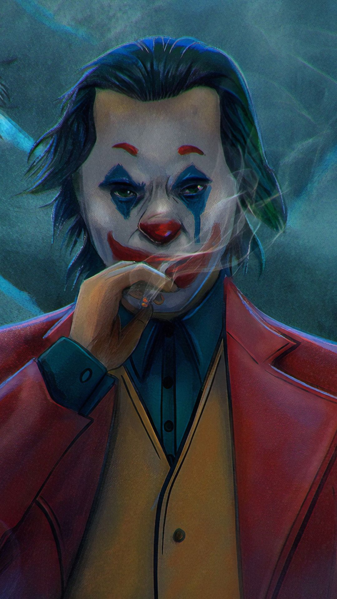 1080x1920 Clown, joker, fan artwork, 2019 wallpaper