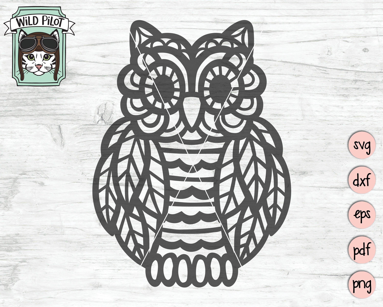 1951+ Mandala Owl Svg – SVG Bundles