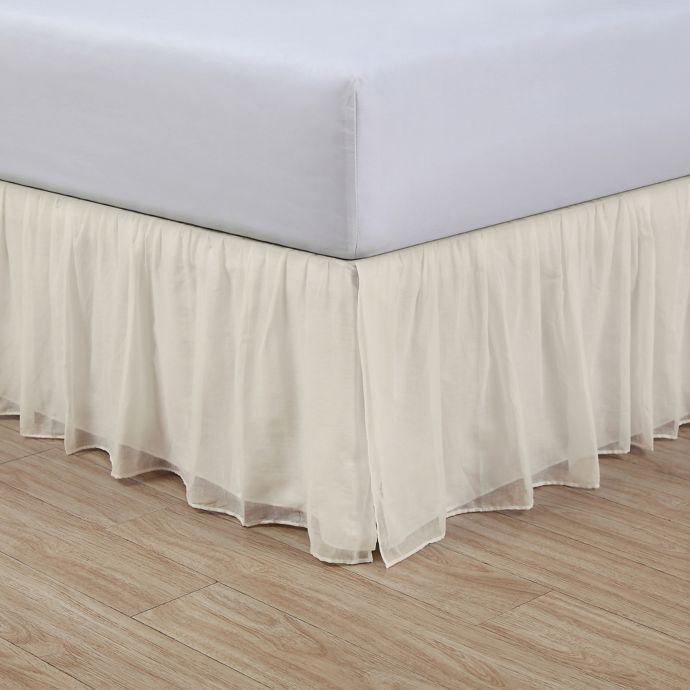 Cotton Voile 15 Inch Bed Skirt Bedskirt Elegant Bedding White