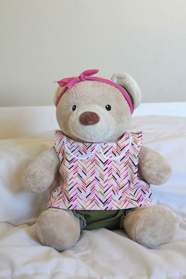 free pattern for easy to sew teddy bear clothes (build-a ...