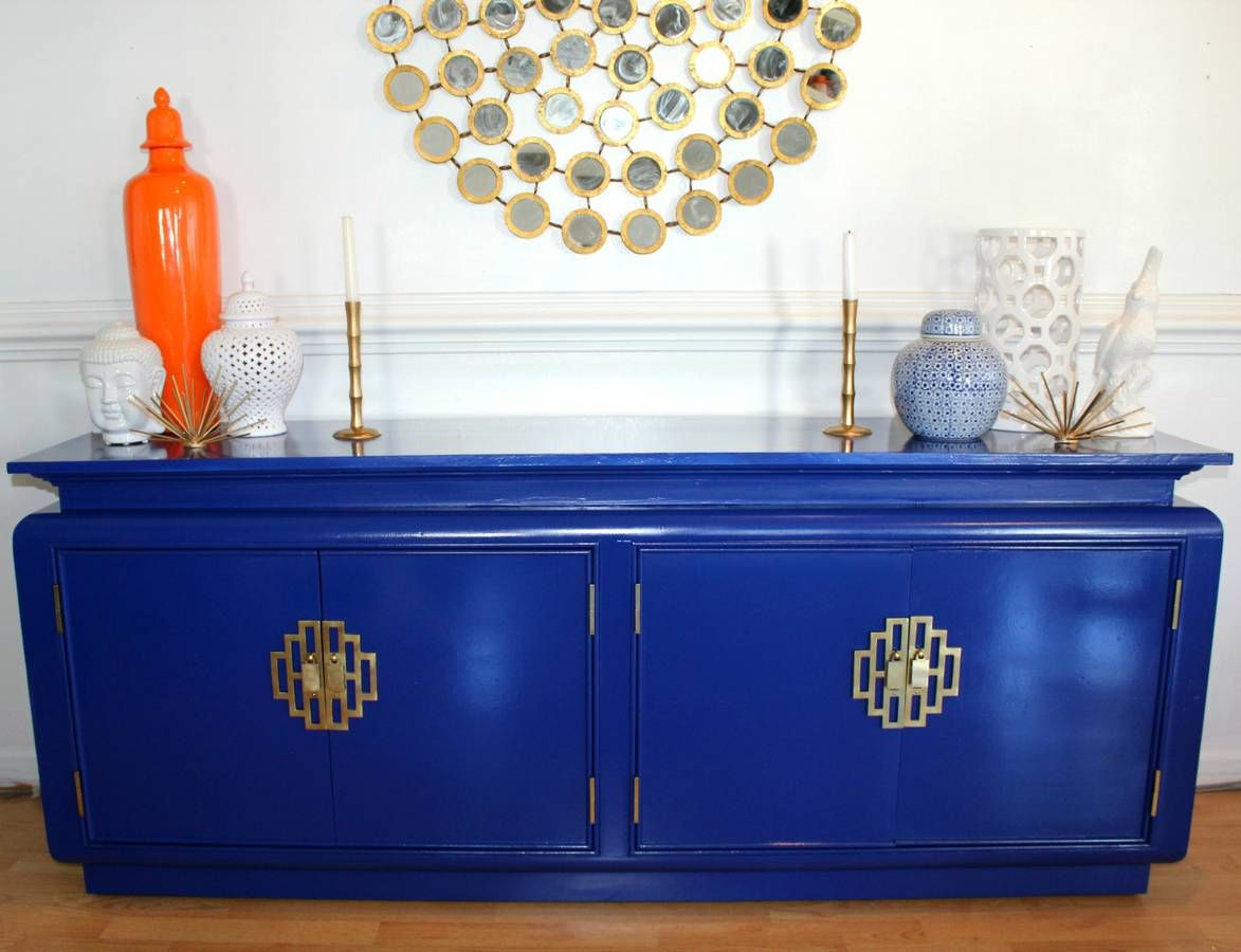 chin hua by century lacquer hollywood regency credenza buffet