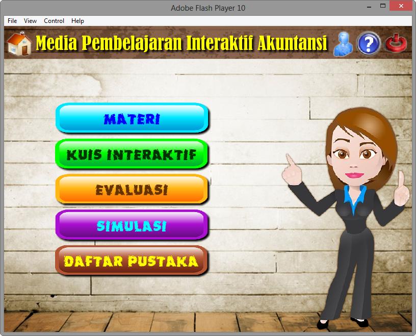 Contoh Aplikasi Media Pembelajaran Interaktif Akuntansi Multimedia Game Edukasi Belajar