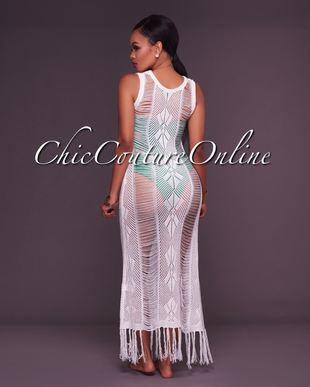 c44c6460ec Roma White Crochet Cover-Up Dress in 2019 | Clothing ~ Chic Couture ...
