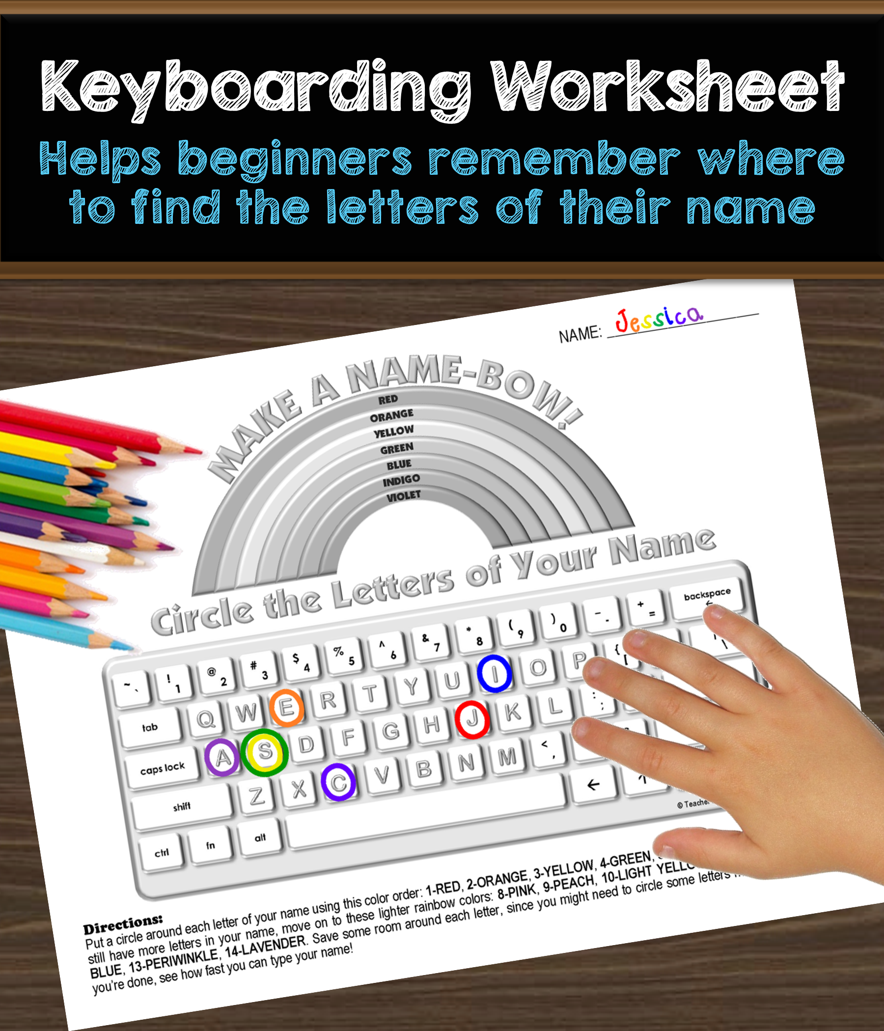 Keyboarding Worksheet A Make A Name Bow