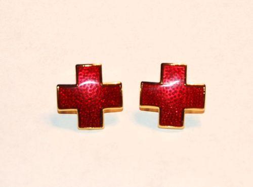 Nurses Red Cross Collar Pin Set | eBay