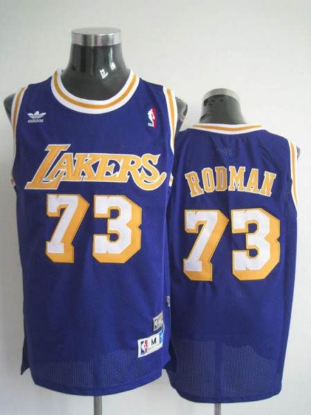5351f803c4a7 Mitchell and Ness Lakers  73 Dennis Rodman Stitched Blue Throwback NBA  Jersey