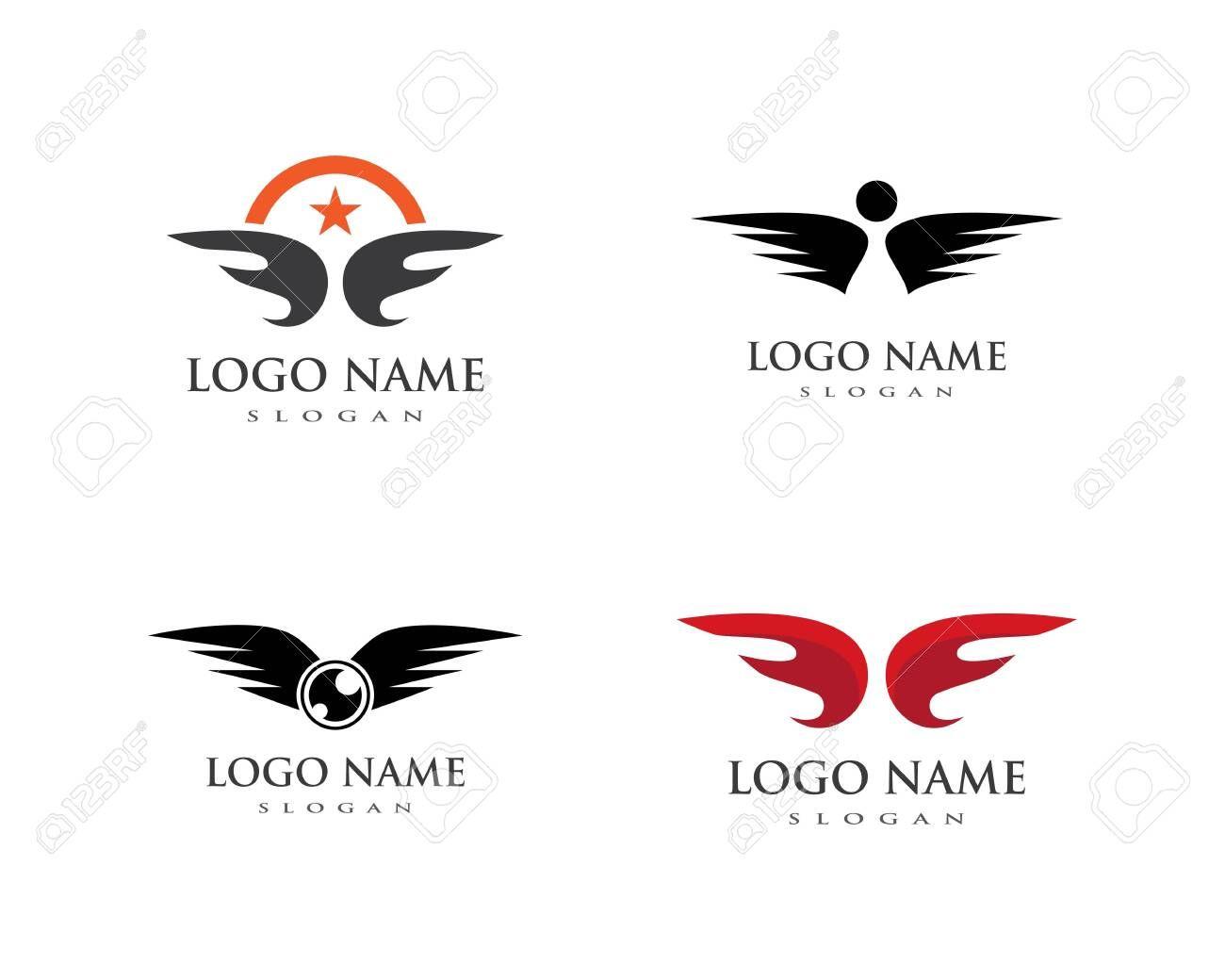 wing logo vector icon template