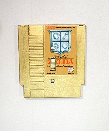 Gold Zelda Nintendo Light Switch Cover- NES Legend of Zelda golden