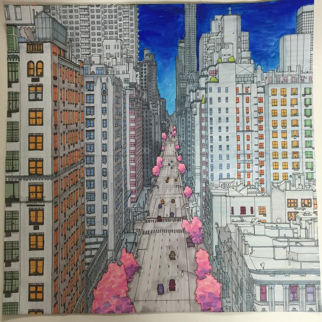 fantastic cities | Colorear Arquitectura | Pinterest | Ciudad ...