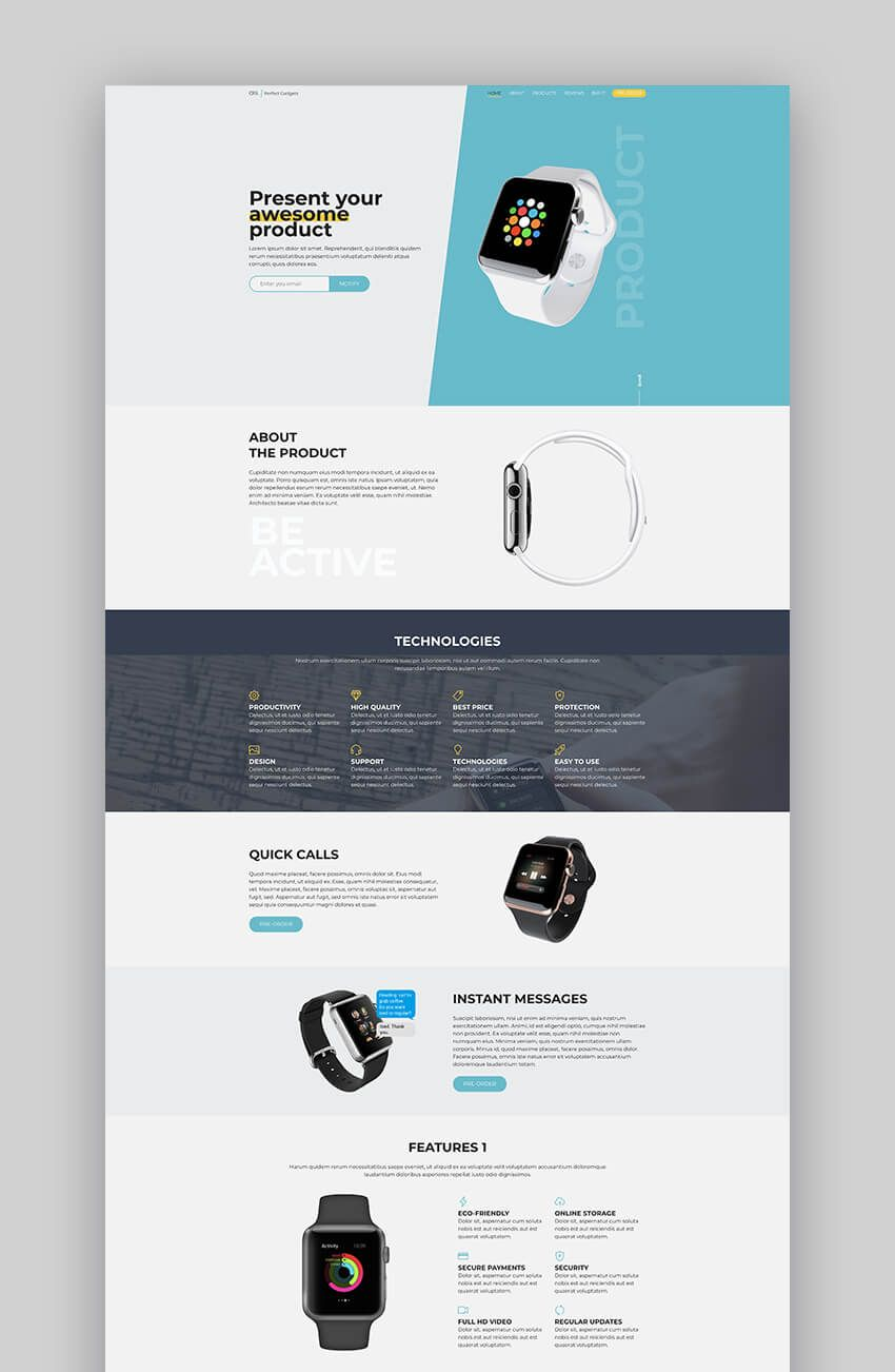 Oli Product Landing Page Template Webpage Design Landing Page Inspiration Website Template Design