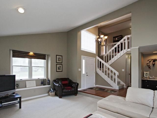 Indiana Sellers Convert Their Garage Into A Family Room And Themselves Out Of A Sale Garage To Living Space Garage Conversion To Family Room Stairs In Living Room