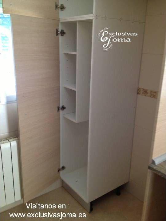 Muebles de cocina a medida en madera color haya jaspeado - Muebles de madera a medida ...