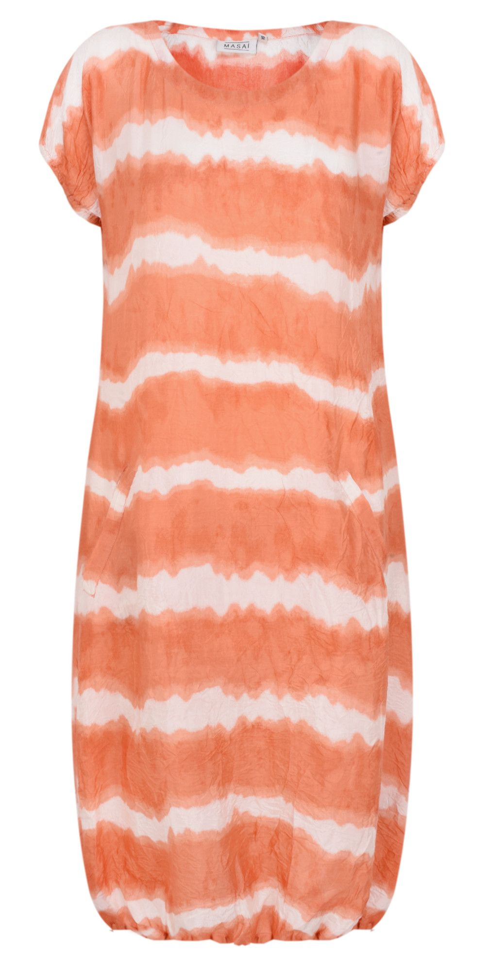 11756f0303 Shop the Masai Clothing Odile Tie-dye Dress in Apricot Org online at Gemini  Woman
