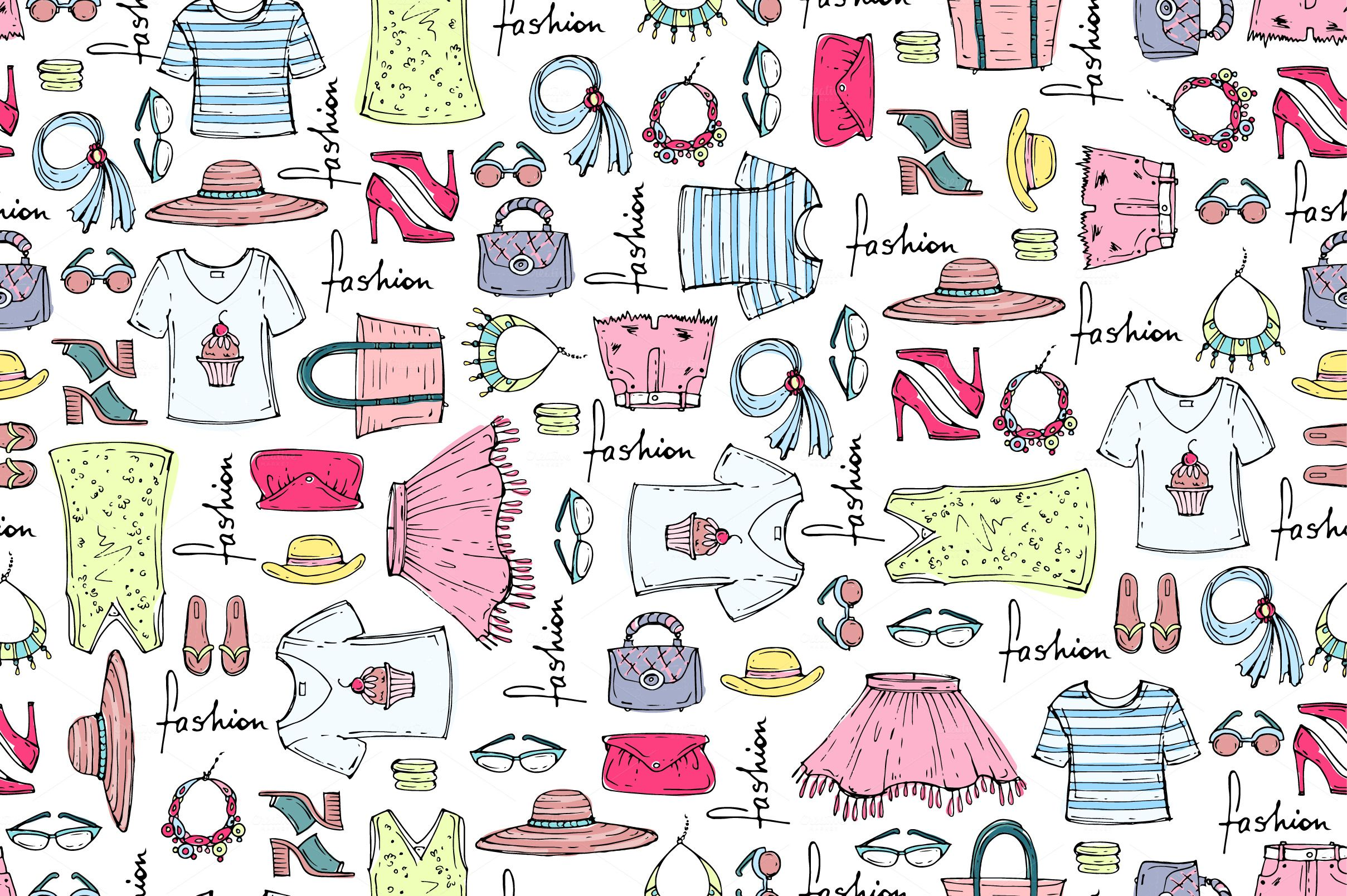 Pattern With Summer Clothes Graphic Patterns Free Printable Sewing Patterns Pattern