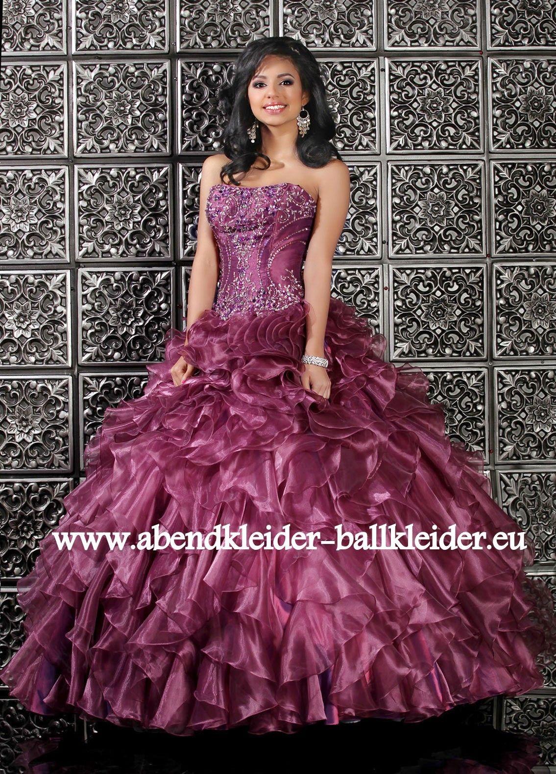 modernes abendkleid ballkleid online in lila alexander