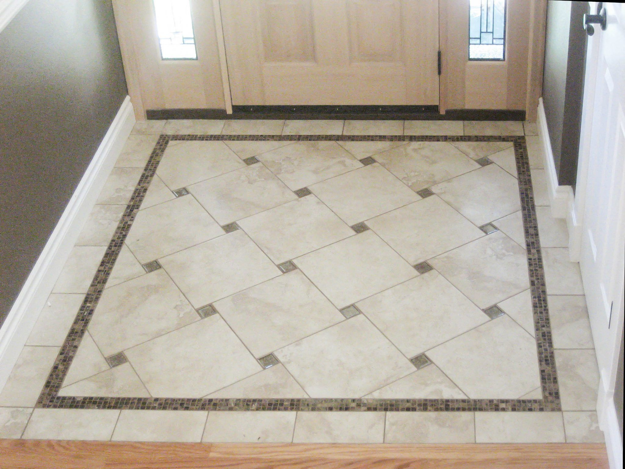 Image result for using two different tiles on the floor basement entry floor tile ideas entry floor photos gallery seattle tile from bathroom floor tile gallery dailygadgetfo Images
