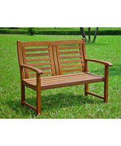 Outdoor Glider Bench Wood Patio Indoor Deck Porch Garden Yard Loveseat 4 Ft New