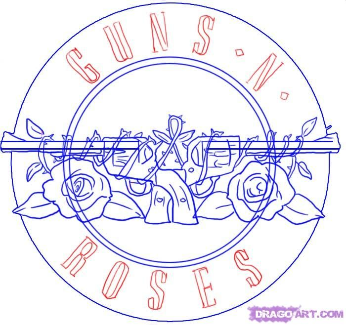 How To Draw Guns N Roses Symbol Step 810000000010595g 700658