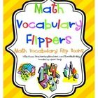 """Vocabulary is essential in math. This printable set of simple to make math vocabulary flip books makes learning math vocabulary fun! A """"flipper"""" is..."""