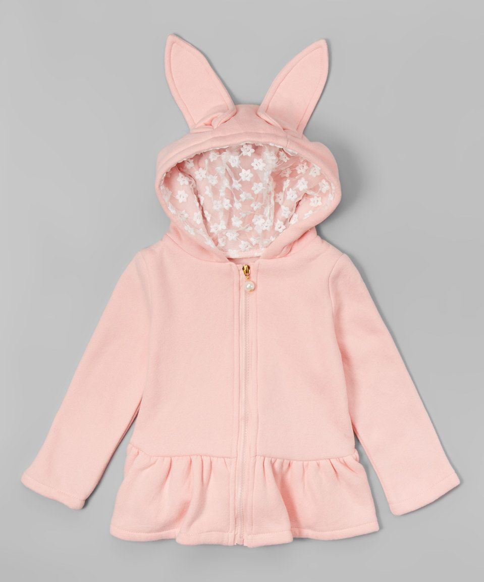 Look what I found on #zulily! Leighton Alexander Pink Skirted Ears Zip-Up Hoodie - Infant, Toddler & Girls by Leighton Alexander #zulilyfinds