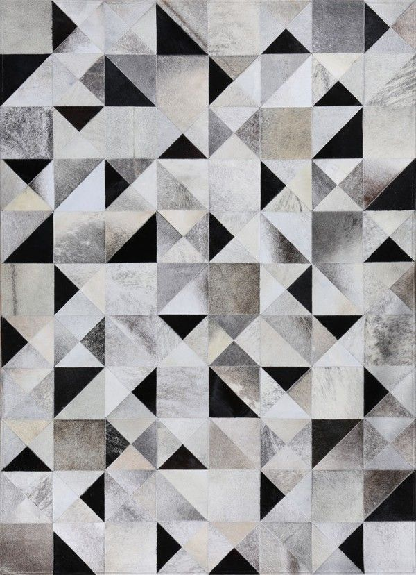 Gatsby By Mosaic Rugs Luxury Handcrafted Black White Patchwork Cowhide Rug Modern Geometric Pattern Art Deco Design 1920 S Style