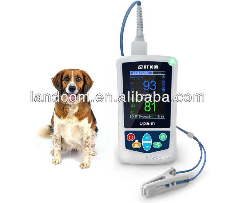 measuring an animal's SpO2 and pulse rate, mainly used in