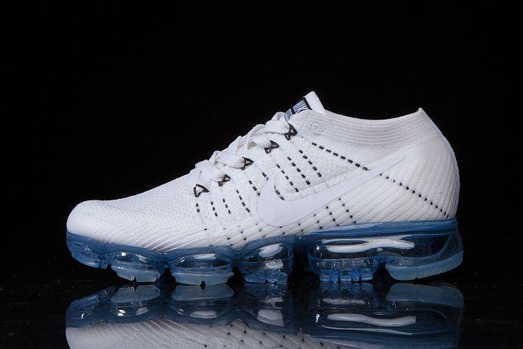 35ea3093f10cec 2018 Young Big Boys Nike Air Vapormax FLYKNIT Shoe white shy blue ...