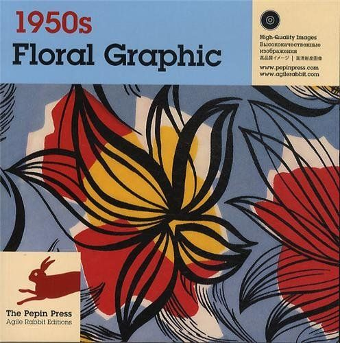 1950s Floral Graphic By Pepin Van Roojen…