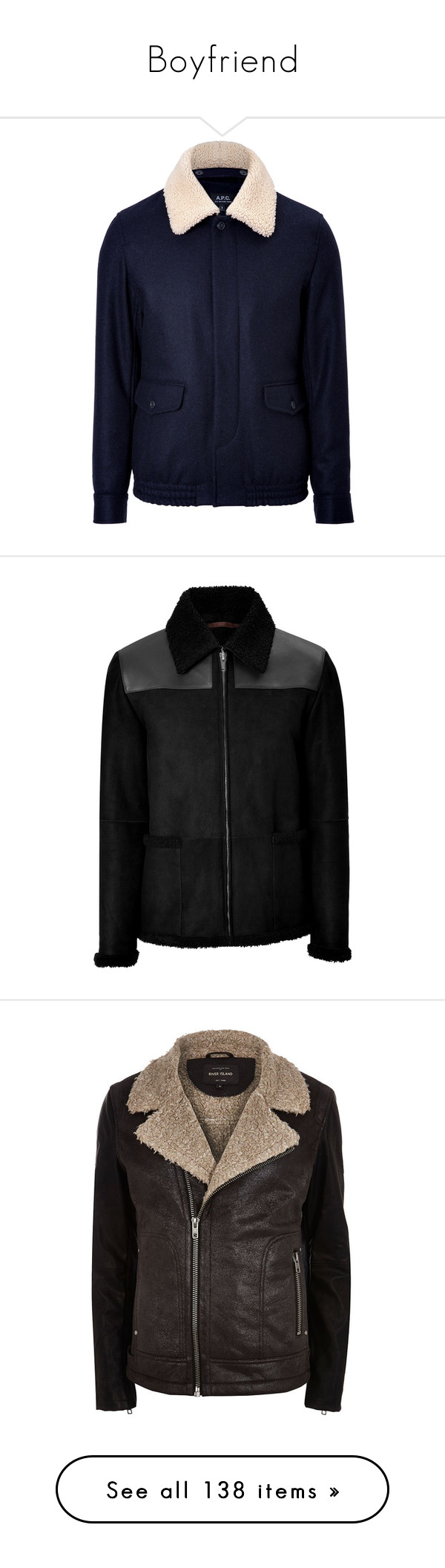"""Boyfriend"" by irisneline ❤ liked on Polyvore featuring men's fashion, men's clothing, men's outerwear, men's coats, men's jackets, nick hudson, black, jackets, sale y outerwear"