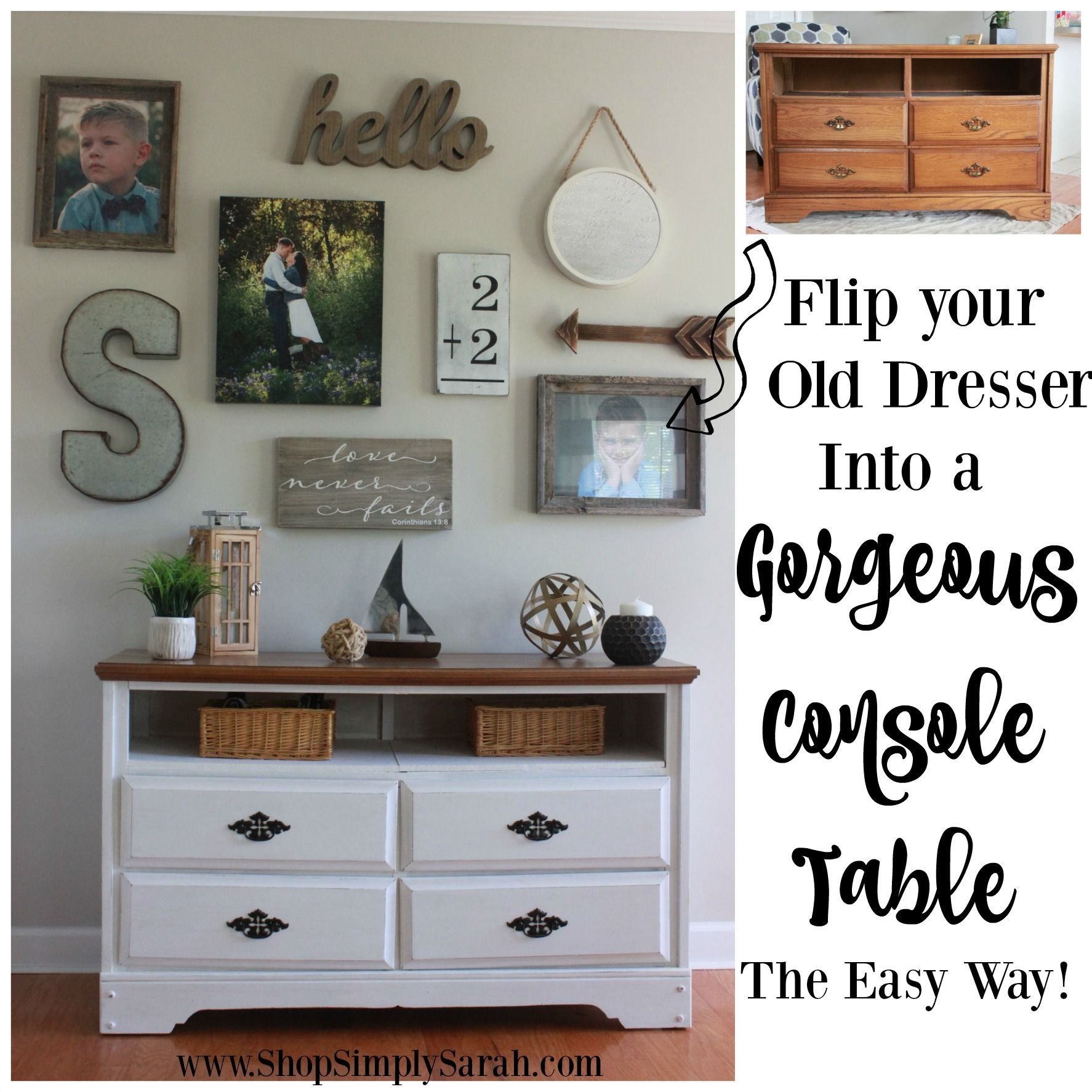 How To Add A Shelf An Old Dresser