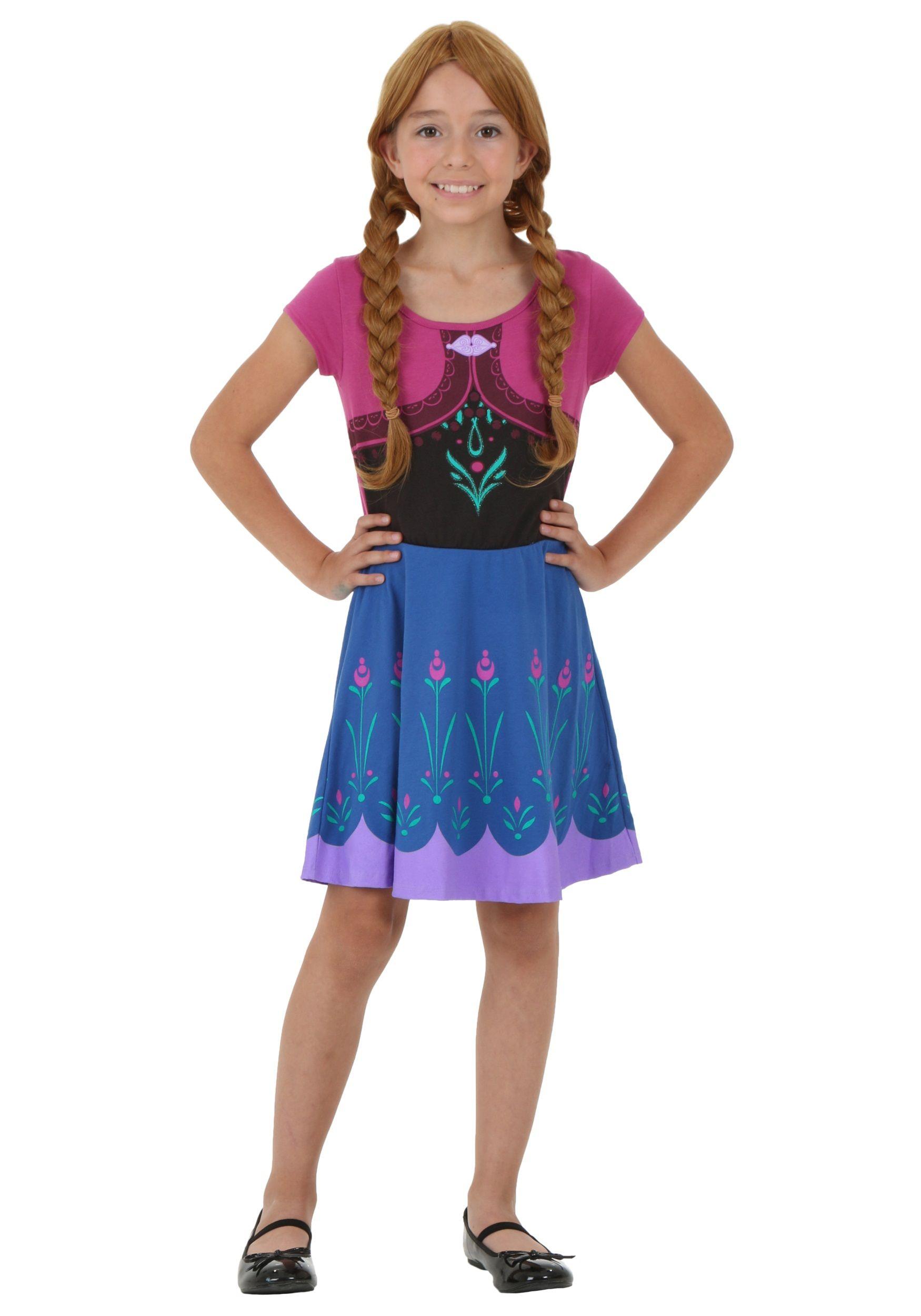 frozen tween i am anna costume dress - Halloween Anna Costume