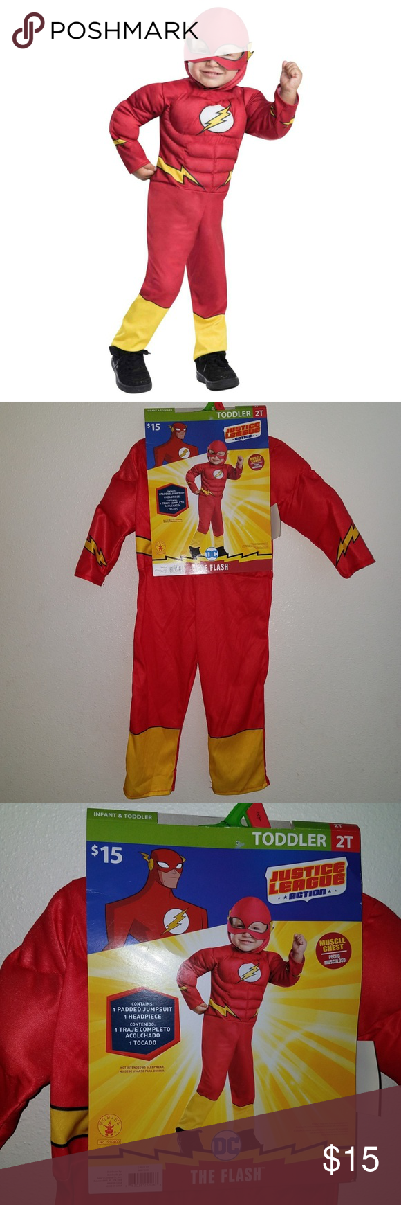 NWT Flash Costume 2T Toddler Halloween Superhero NWT in ...