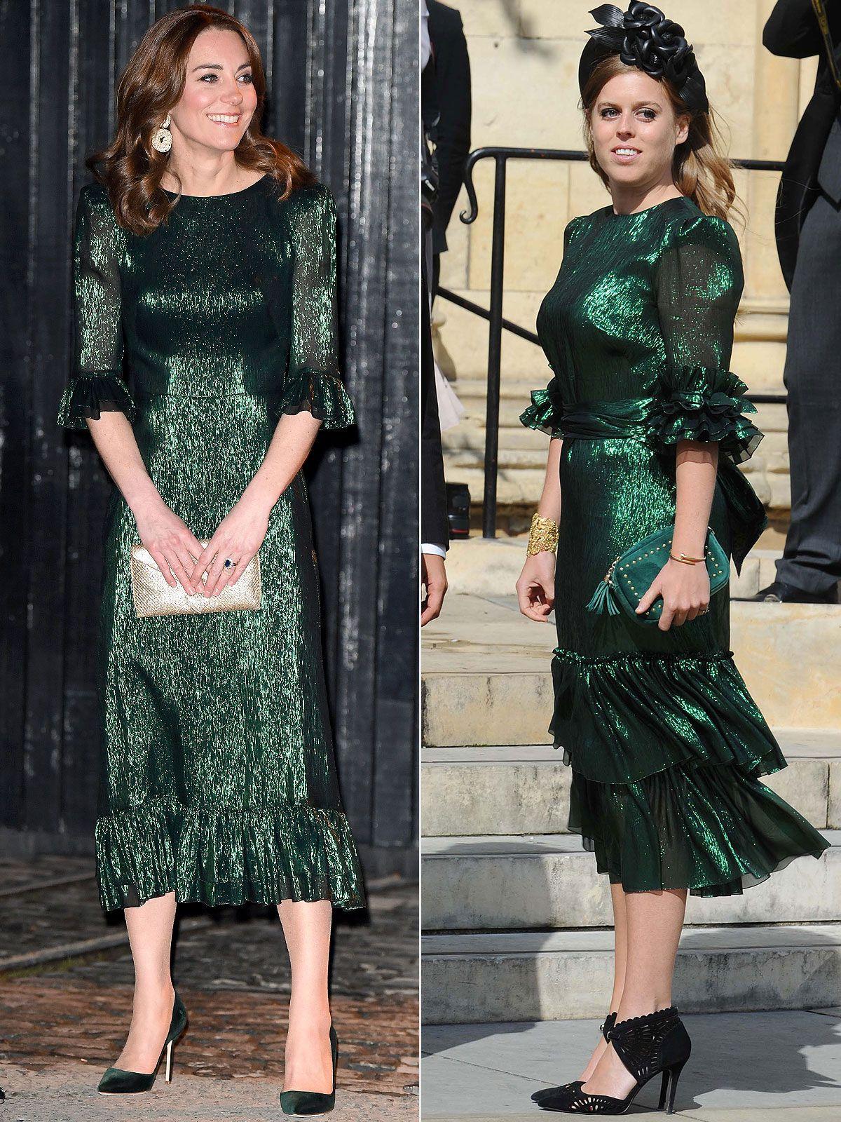 Royal Inspiration! Kate Middleton Wears Metallic Dress