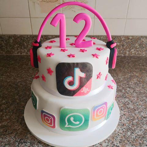 Tik Tok Party Theme Google Search Birthday Cake Kids Birthday Cake Girls Girl Cakes