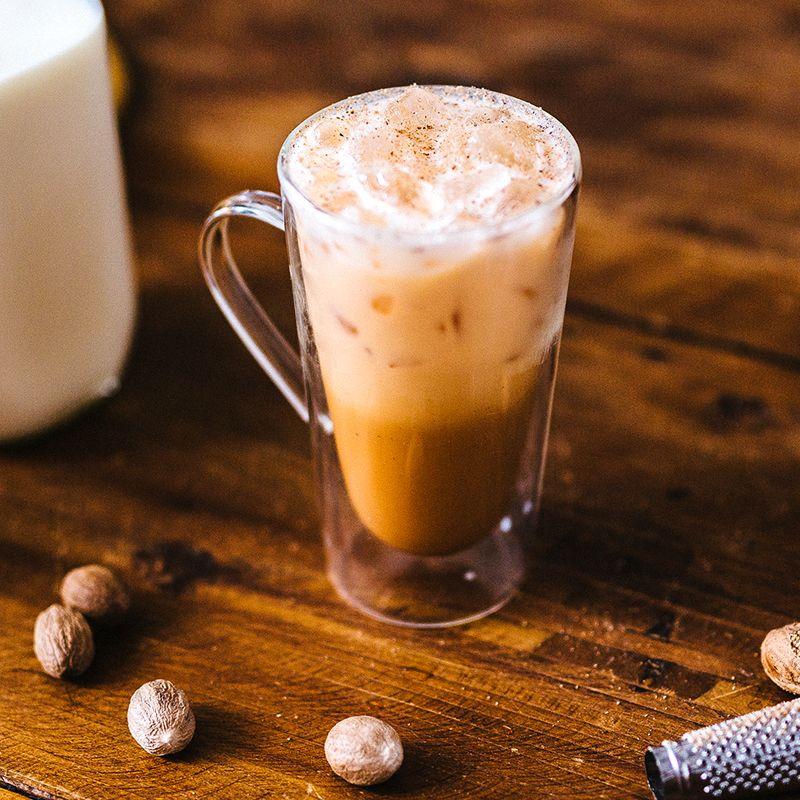 Iced Pumpkin Spice Latte Recipe Card Starbucks Coffee