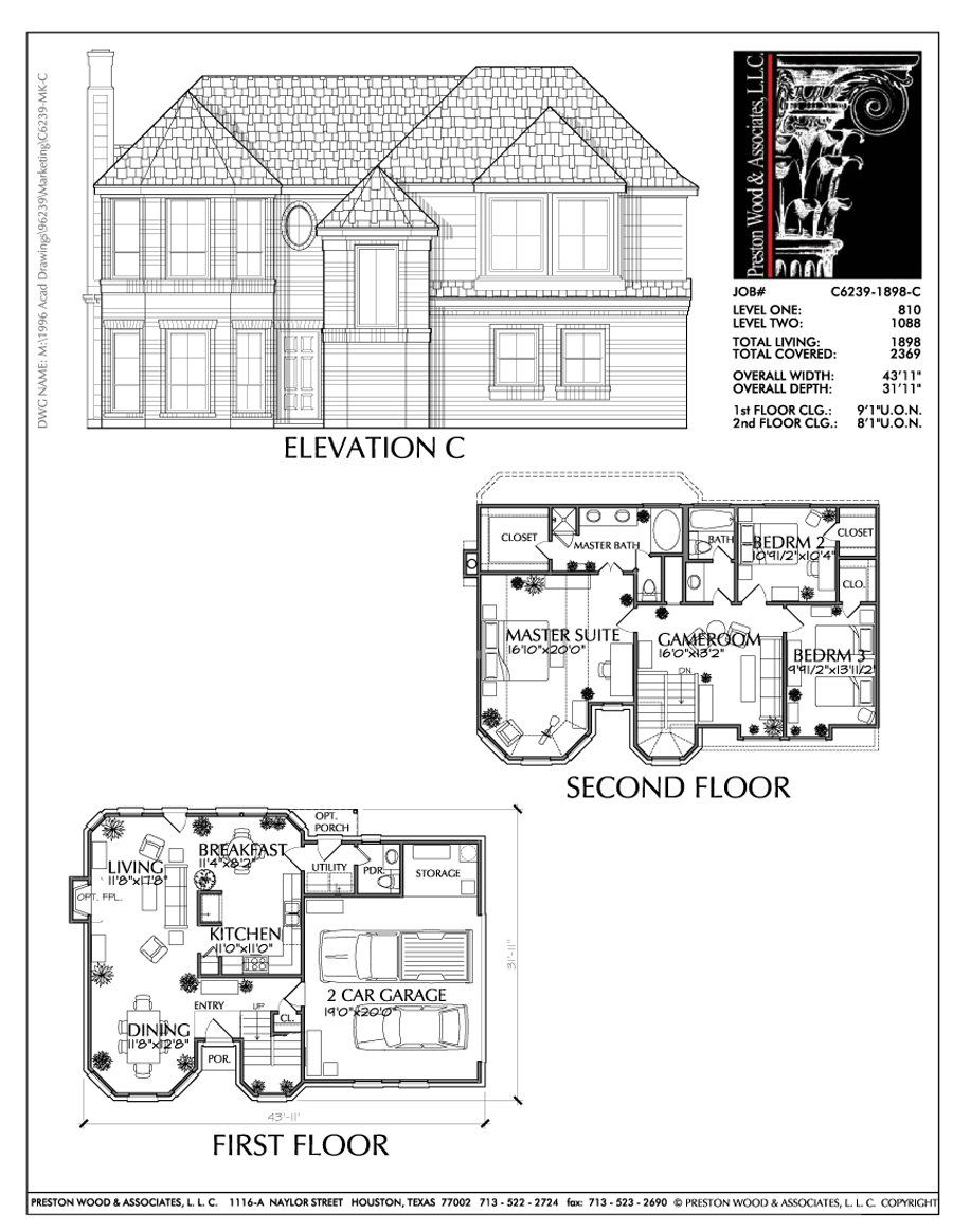 Two Story House Plan C6239 C House Plans Beautiful House Plans Two Story House Plans