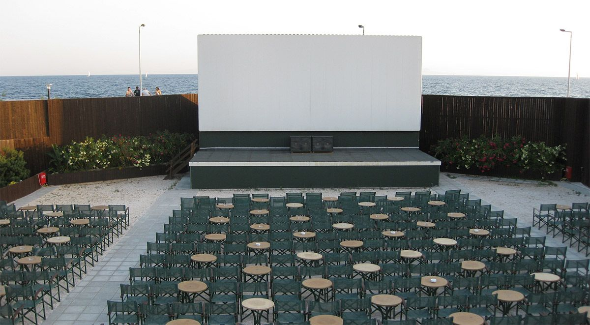 Enjoying summer open air cinema in Athens is a classic