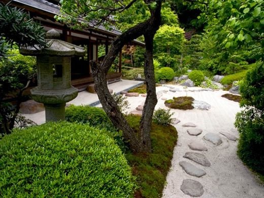 Japanischer Garten Mit Natursteine