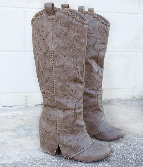 Naughty Monkey So Buck Boot - Women's Shoes in Taupe