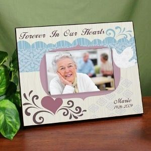 Personalized Forever In Our Hearts Picture Frame Memorial