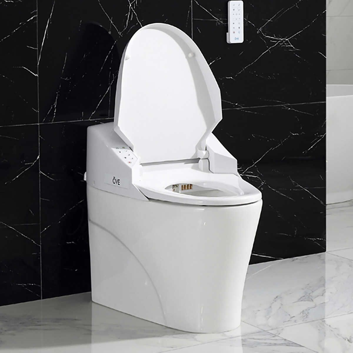Master Bath Powder Room Saga Smart Toilet By Ove Decors Costco 999 With Images Smart Toilet Toilet Bidet Toilet